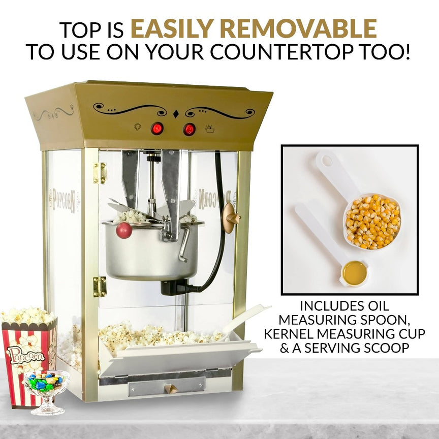 Candy & Snack Dispensing 8 Oz. Popcorn Cart