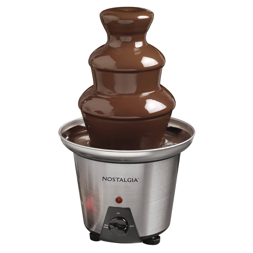 3-Tier 24-Ounce Stainless Steel Chocolate Fondue Fountain