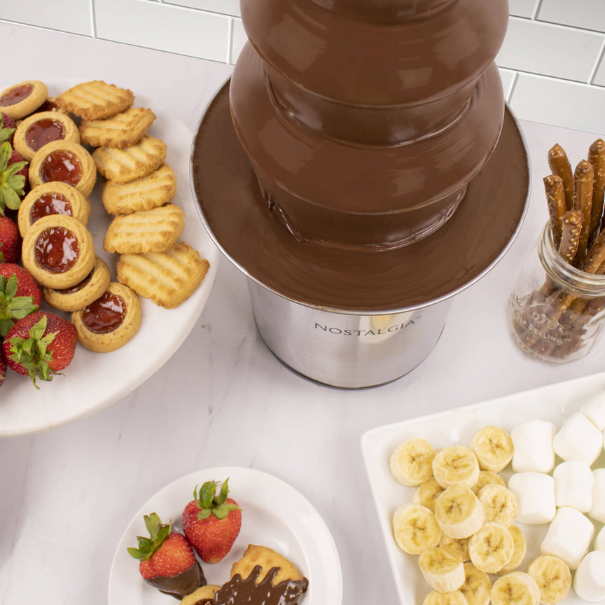 4-Tier 2-Pound Stainless Steel Chocolate Fondue Fountain