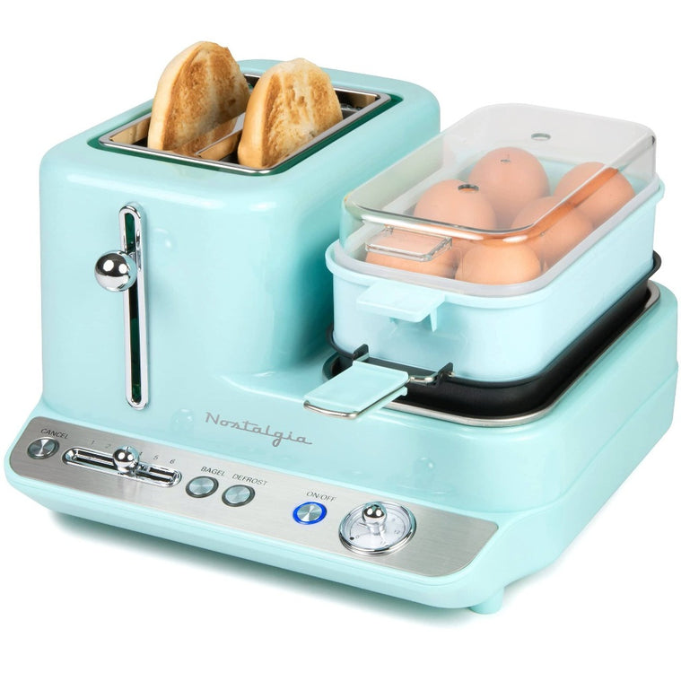 Retro 3-in-1 Breakfast Station, Aqua