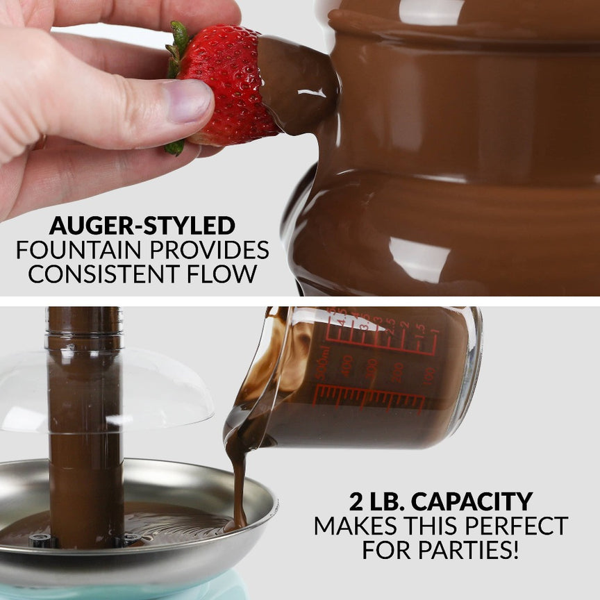 Classic Retro 4-Tier 2-Pound Chocolate Fondue Fountain