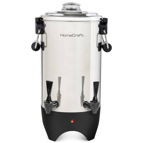 HomeCraft™ Quick-Brewing 1000-Watt Automatic 45-Cup Coffee Urn, Stainless Steel