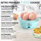 Retro Premium 7-Egg Capacity Electric Egg Cooker, Aqua
