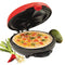 6-Wedge Electric Quesadilla Maker with Extra Stuffing Latch