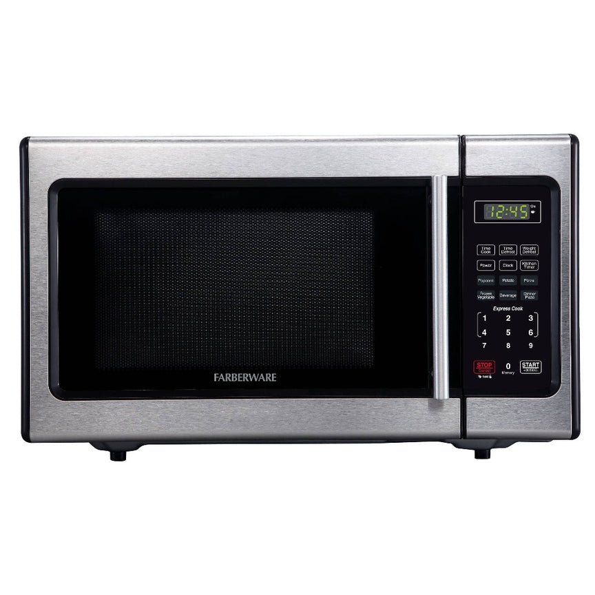 Farberware Classic 0.9 Cu. Ft. 900-Watt Microwave Oven, Stainless Steel