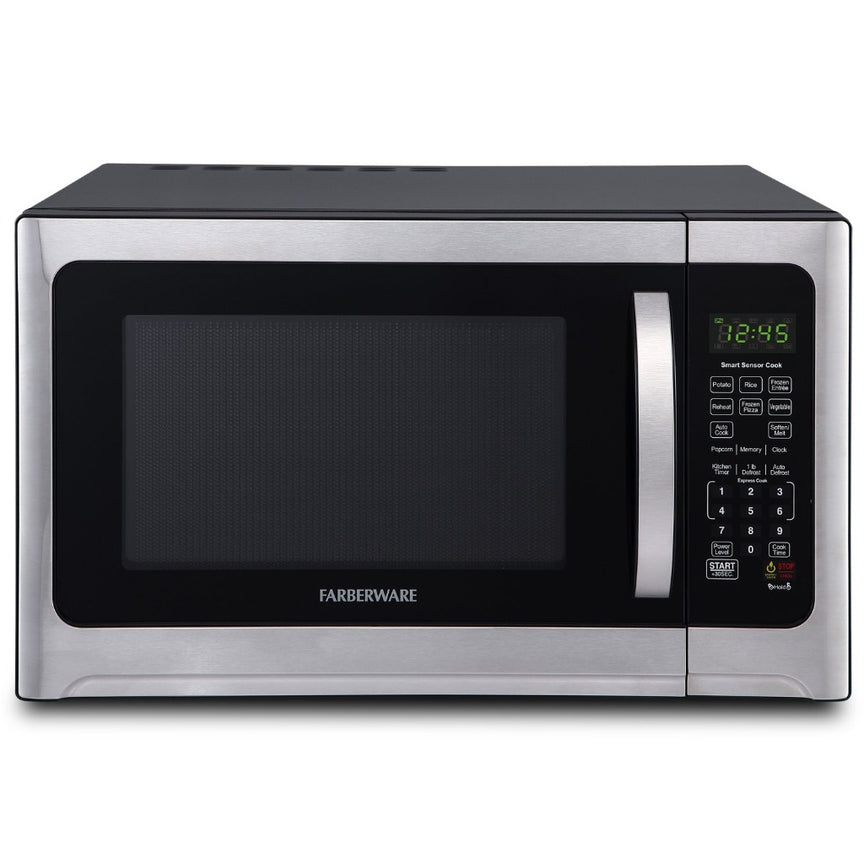 Farberware Professional 1.2 Cu. Ft. 1100-Watt Microwave Oven with Sensor Cooking, Stainless Steel/Black