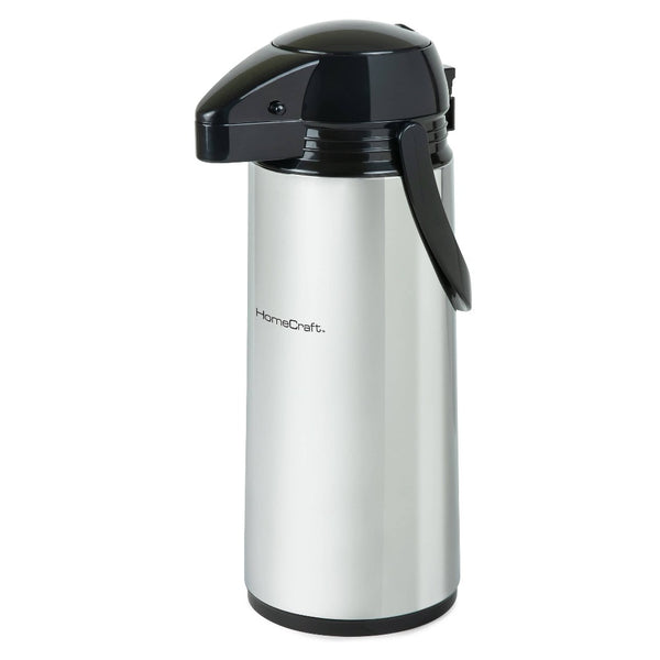 HomeCraft™ 2-Liter Double Wall Stainless Steel Airpot Coffee Dispenser