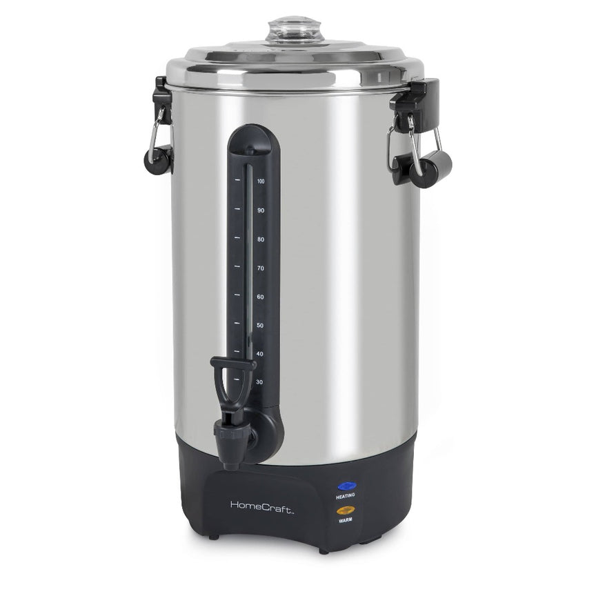 HomeCraft™ Quick-Brewing 1500-Watt Automatic 100-Cup Coffee Urn, Stainless Steel