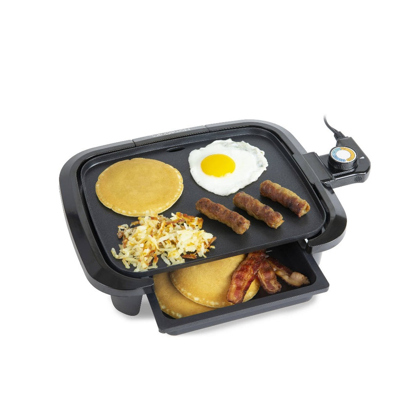 HomeCraft Non-Stick Griddle With Warming Drawer