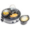 HomeCraft Triple Round Oval 1.5 Quart Stainless Steel Cooker Buffet