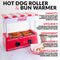 Nostalgia HDR8CK Coca-Cola® Hot Dog Roller and Bun Warmer, 8 Hot Dog and 6 Bun Capacity