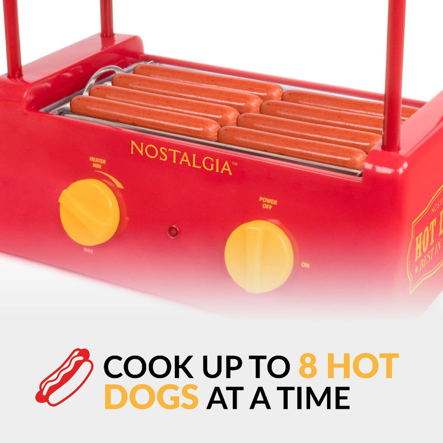 Hot Dog Roller and Bun Warmer, 8 Hot Dog and 6 Bun Capacity
