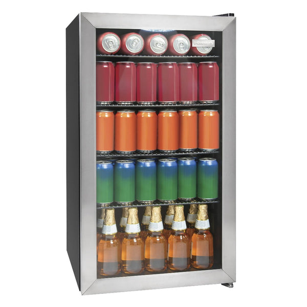 Igloo® 3.5 Cu. Ft. 135 Can Stainless Steel Beverage Cooler
