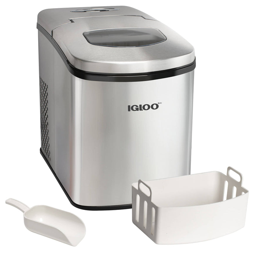 IGLOO® 26-Pound Full Countertop Ice Maker Machine, Stainless Steel