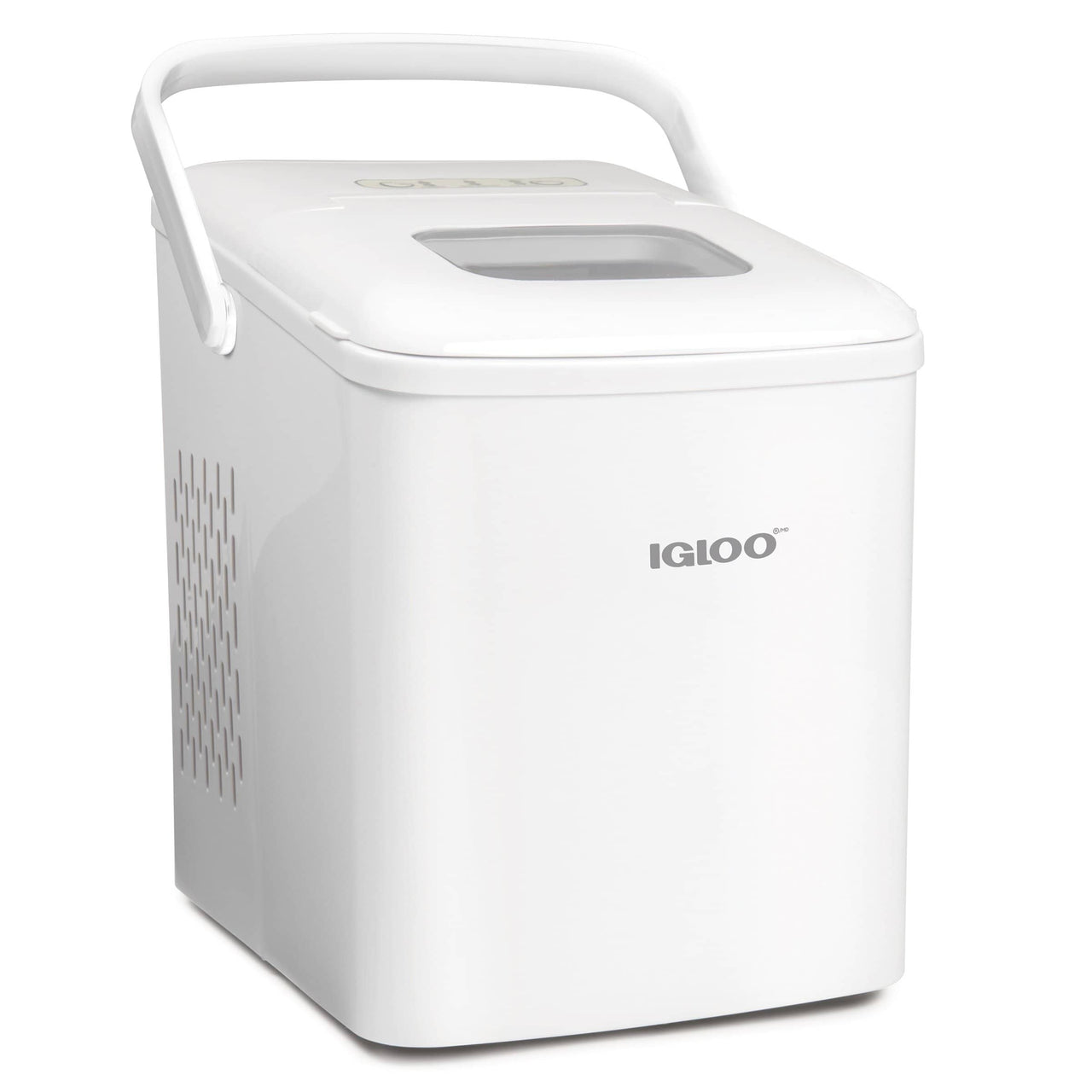 IGLOO® 26-Pound Automatic Self-Cleaning Portable Countertop Ice Maker Machine With Handle, White