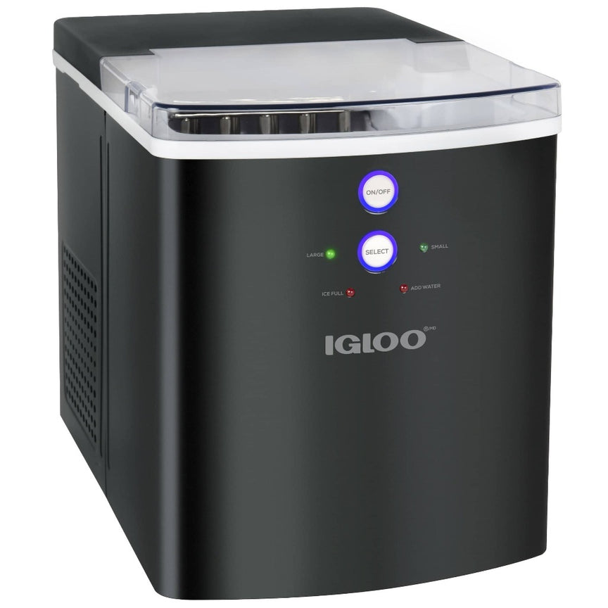 IGLOO® 33-Pound Automatic Portable Countertop Ice Maker Machine, Black Stainless Steel