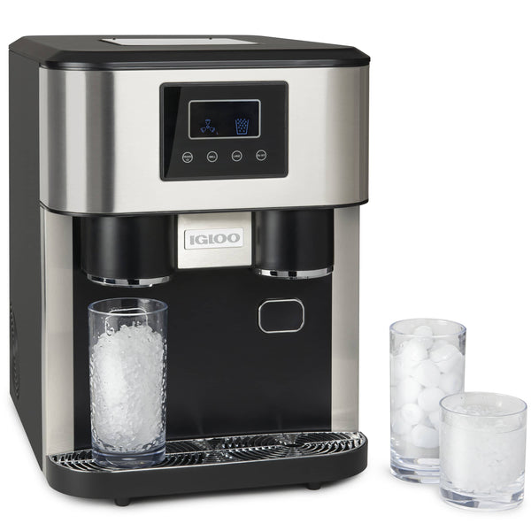IGLOO® 33-Pound Dual Dispensing Ice Maker & Crusher