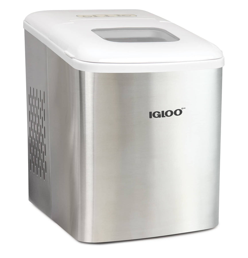 Igloo® Automatic Self-Cleaning Portable Electric Countertop Ice Maker Machine, Stainless Steel