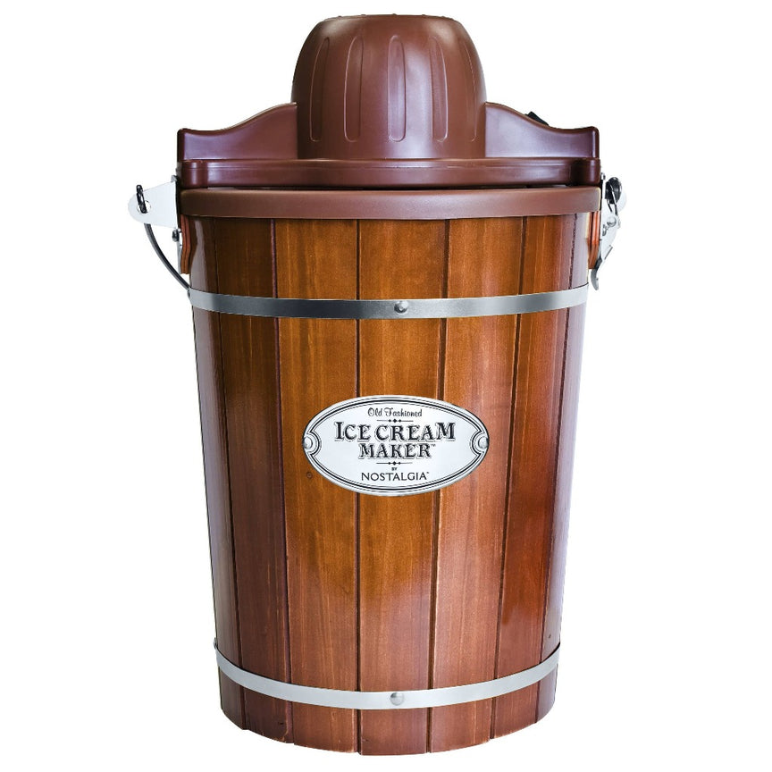6-Quart Wood Bucket Electric Ice Cream Maker