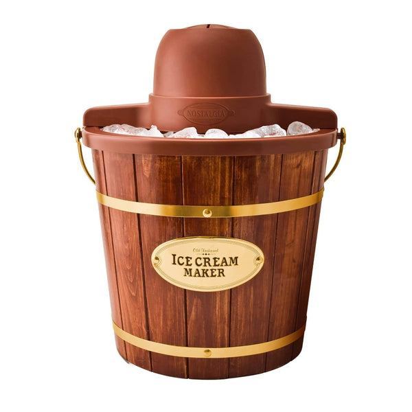 4-Quart Wood Bucket Ice Cream Maker