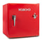 IGLOO IRF16RSRD 1.6 Cu. Ft. Classic Compact Single Door Refrigerator Freezer w/ Chrome Handle & Bottle Opener - Red