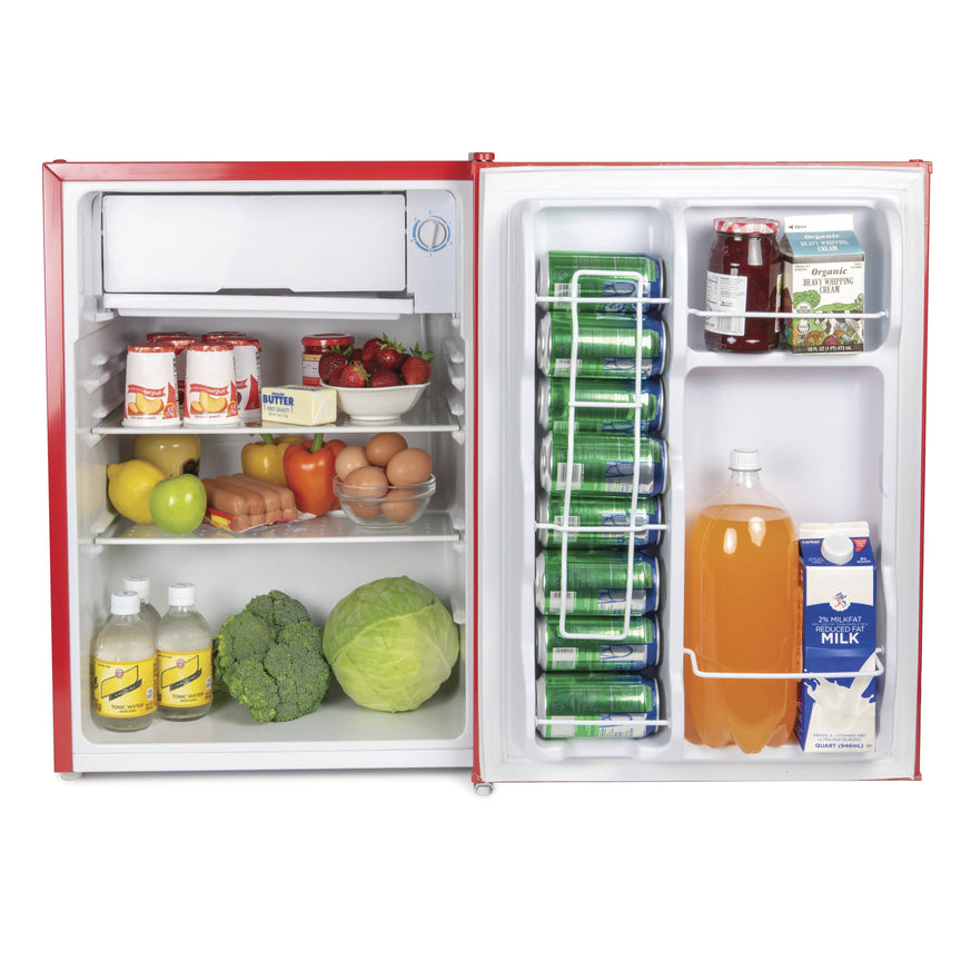 IGLOO® 2.6 Cu. Ft. Classic Compact Single Door Refrigerator Freezer w/ Chrome Handle & Bottle Opener - Red