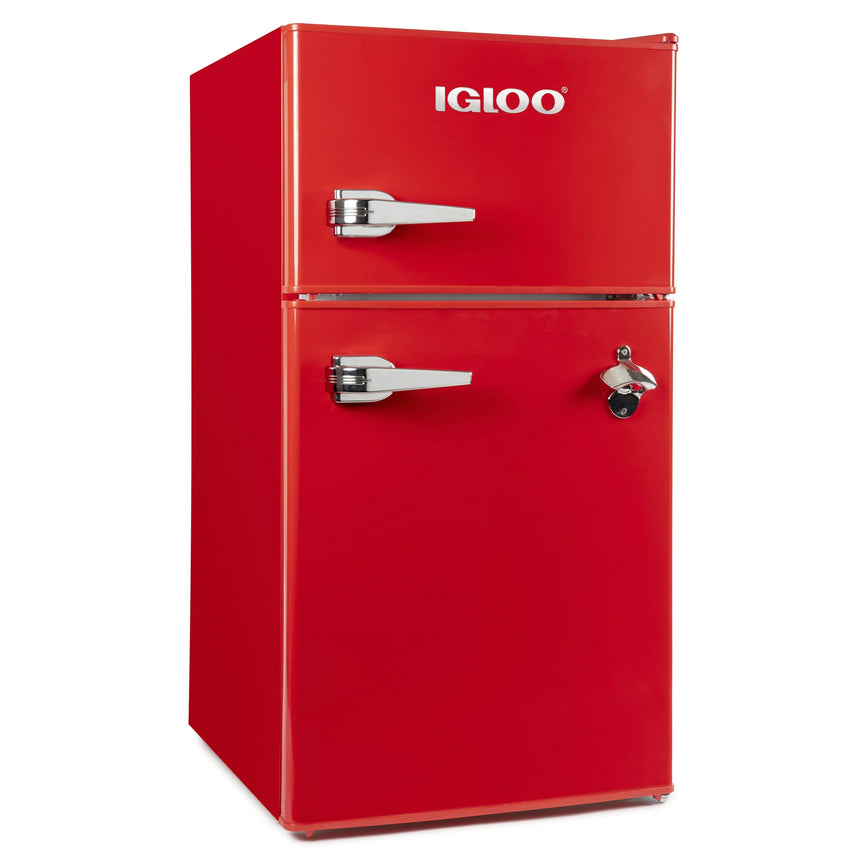 IGLOO® 3.2 Cu. Ft. Classic Compact Double Door Refrigerator Freezer - Red