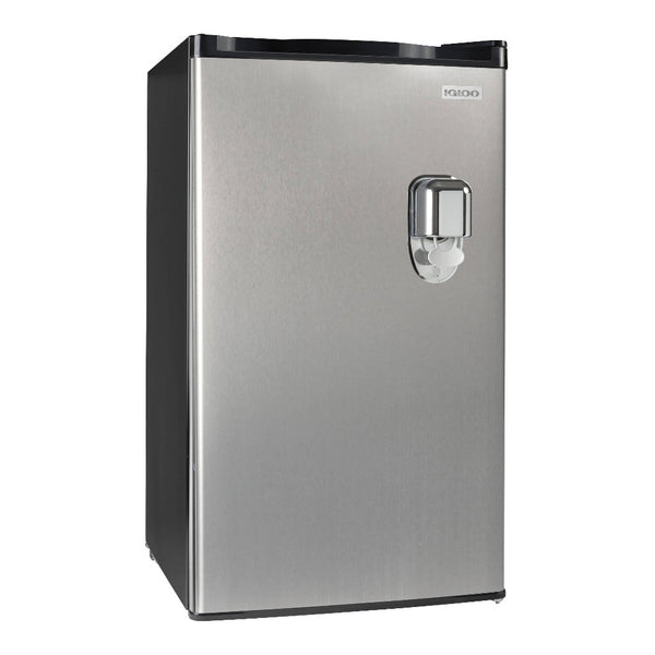 Igloo® 3.2 Cu. Ft. Stainless Steel Beverage Dispensing Refrigerator With Freezer