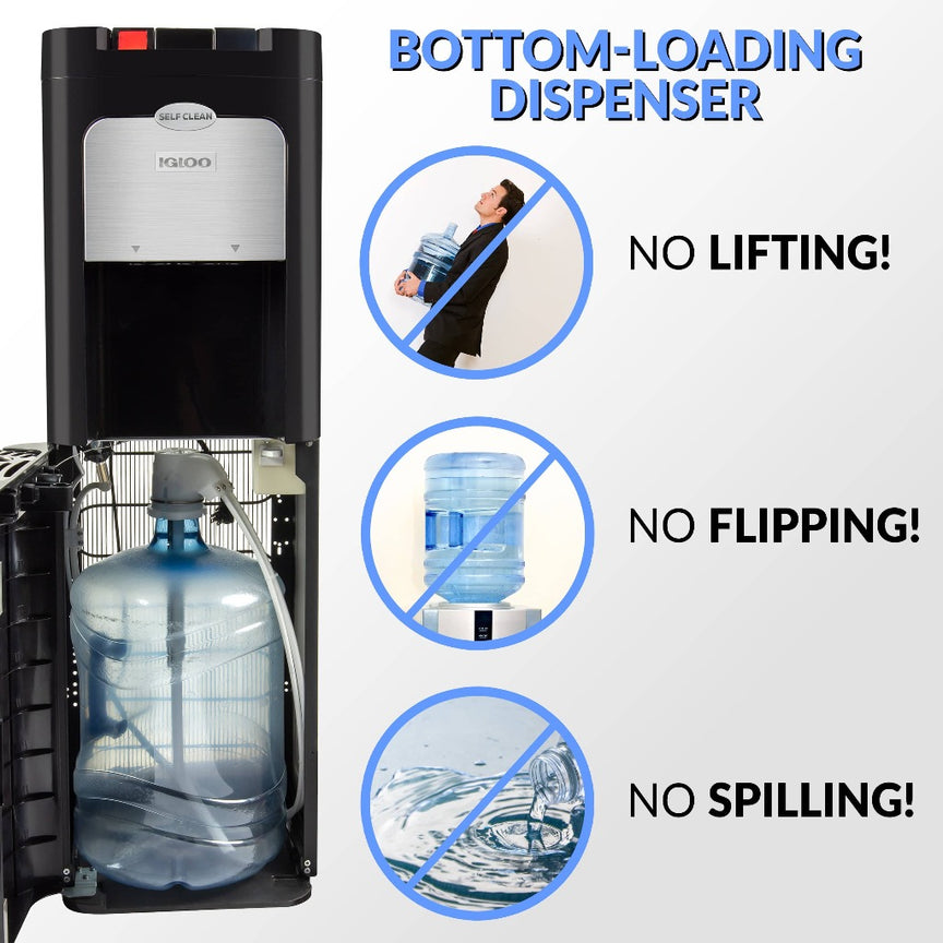 Igloo® Hot & Cold Bottom Load Self-Cleaning Water Dispenser