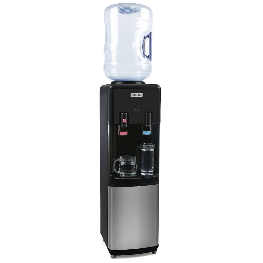 Igloo® Hot & Cold Top Loading Water Dispenser, Black
