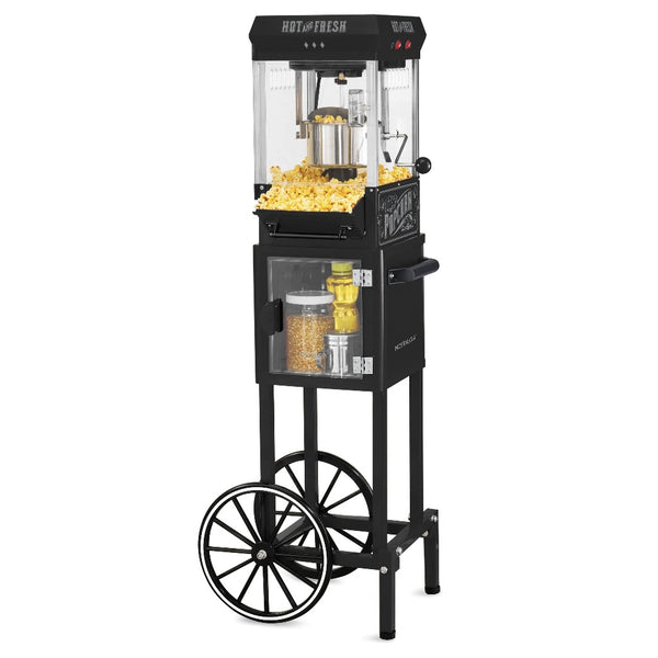 KPM220CTBK 2.5 Ounce Popcorn Cart, 10-Cup, with 5-Quart Popcorn Bowl, 45-Inches Tall