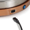 HomeCraft™ Electric 3-in-1 Copper Stainless Steel Cordless Lazy Susan Buffet