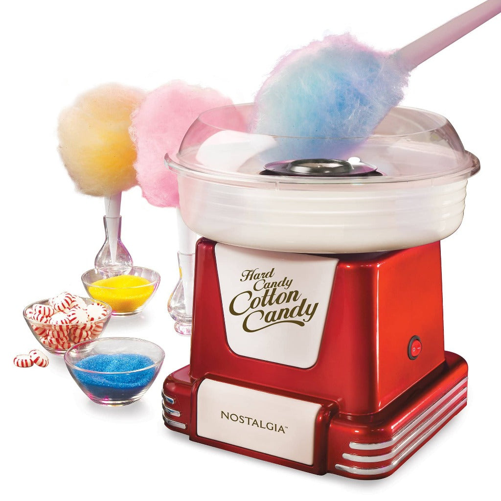 Nostalgia PCM805RETRORED Retro Hard & Sugar-Free Candy Cotton Candy Maker