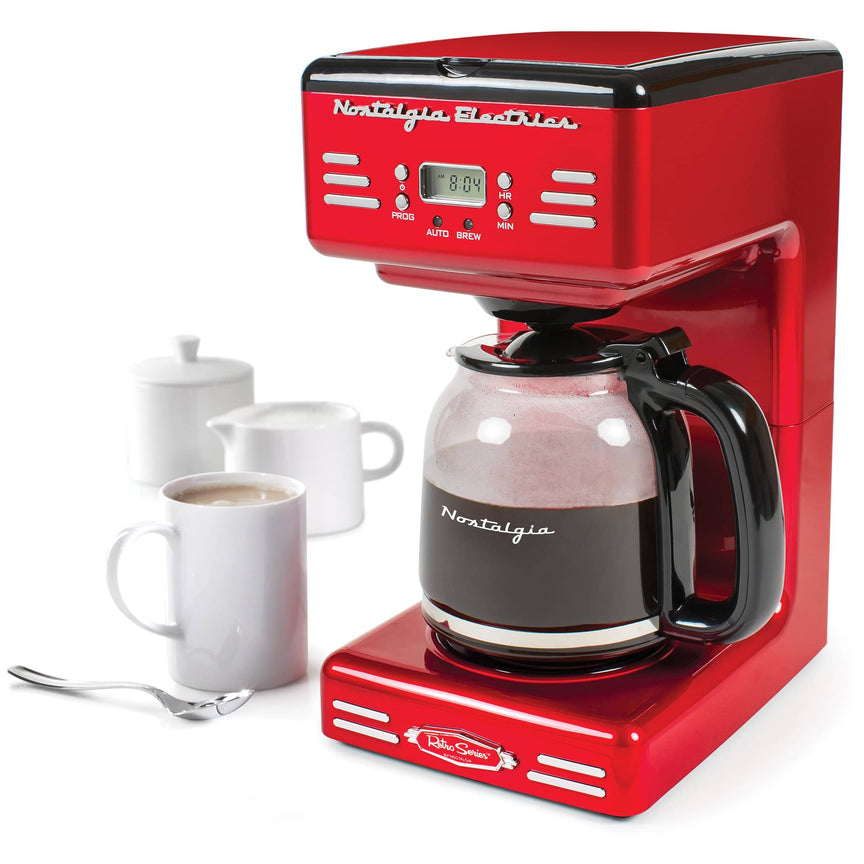 Retro 12-Cup Programmable Coffee Maker