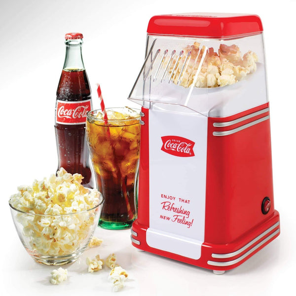 Nostalgia RHP310COKE Coca-Cola® 8-Cup Hot Air Popcorn Maker