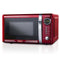 Retro 0.7 Cubic Foot 700-Watt Countertop Microwave Oven - Retro Red