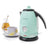 Retro 1.7-Liter Stainless Steel Electric Water Kettle with Strix Thermostat, Aqua