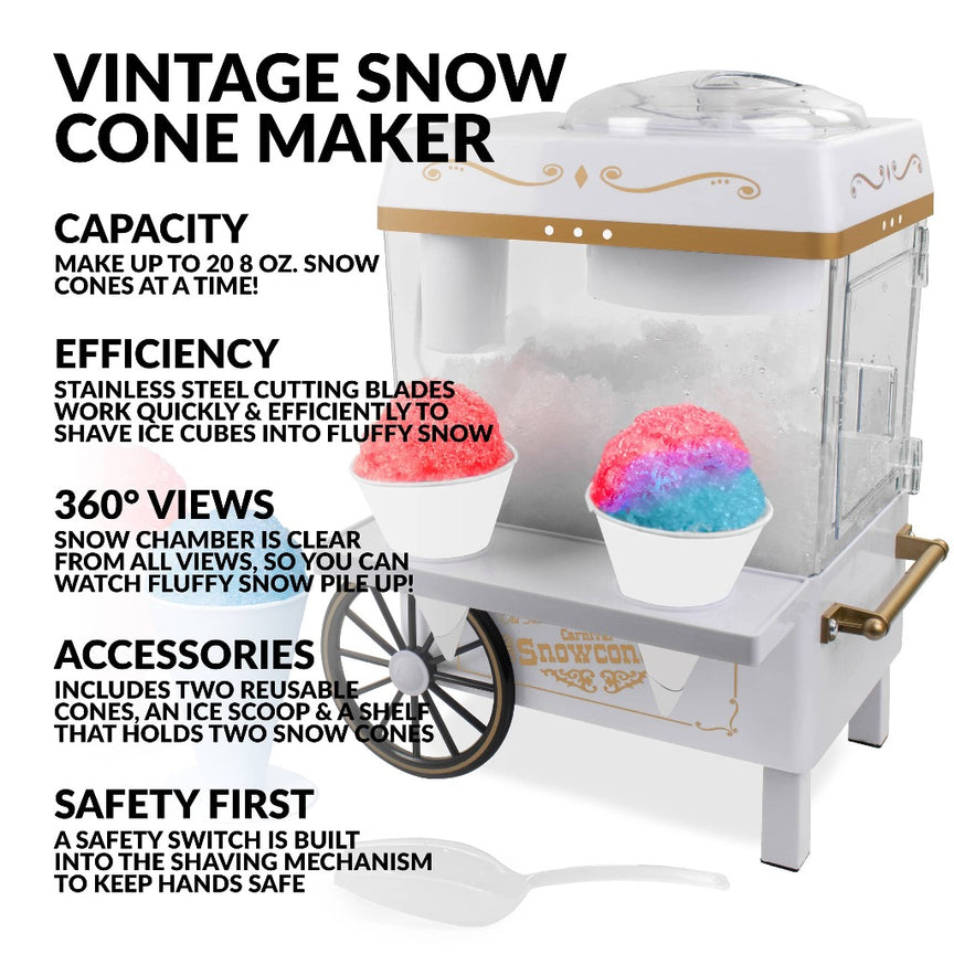 Vintage Snow Cone Maker, Ice White