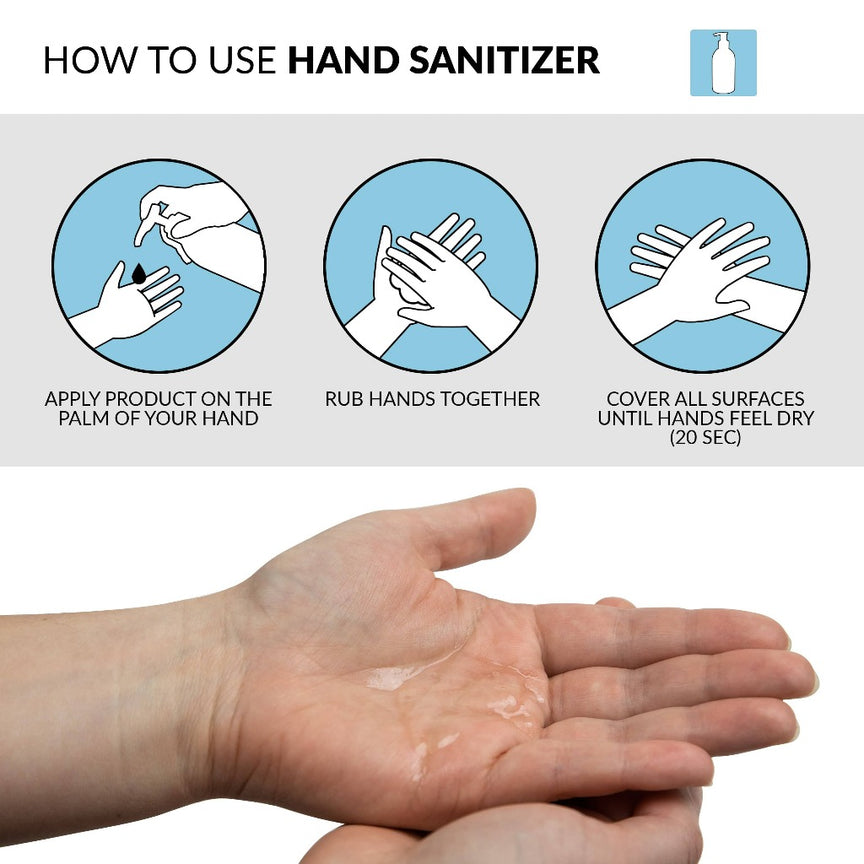Steril-Wize 16.9-Oz. Moisturizing Gel Hand Sanitizer, 70% Alcohol With Hand Pump, 2 Pack
