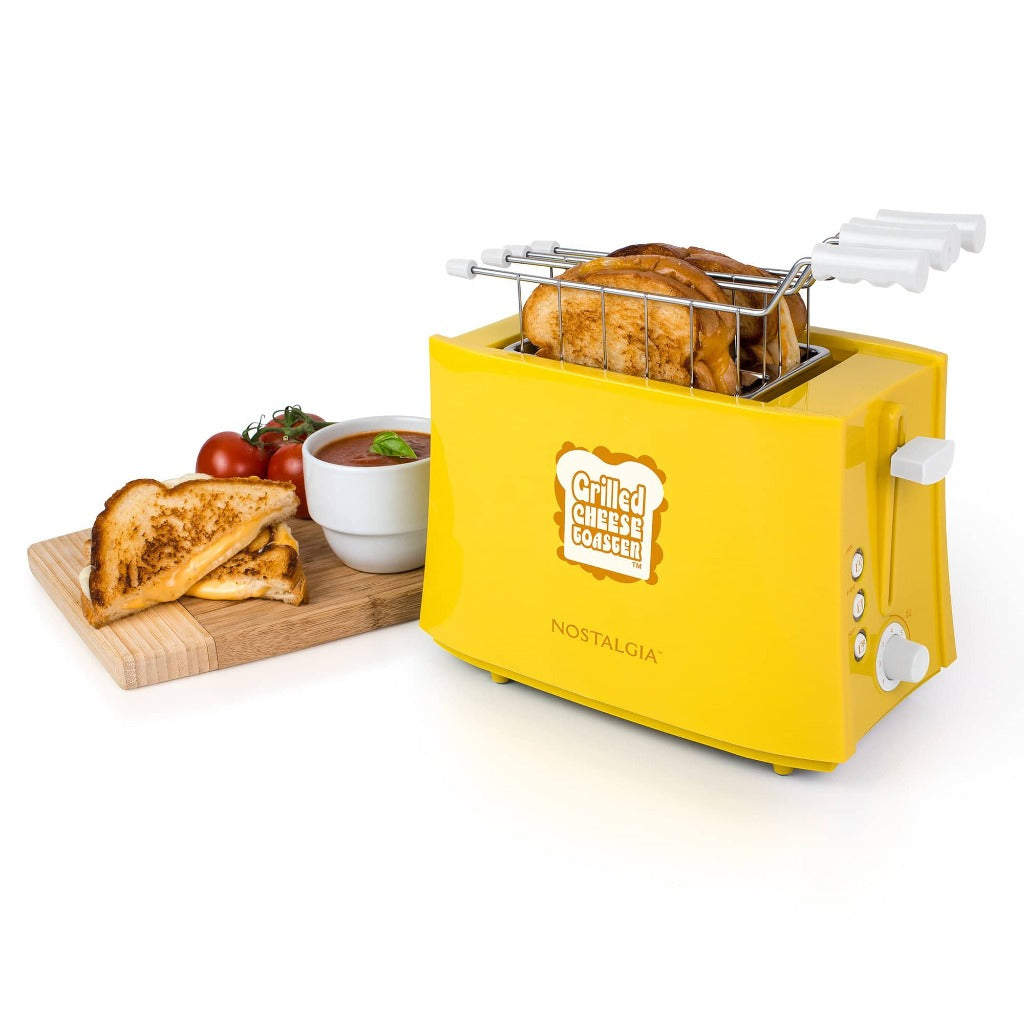 Grilled Cheese Toaster with Easy-Clean Toaster Baskets and Adjustable Toasting Dial