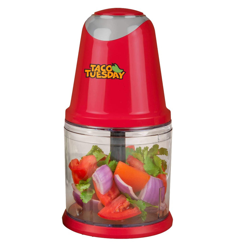 Taco Tuesday 2-Speed Salsa & Guacamole Chopper, 2 Cup Capacity