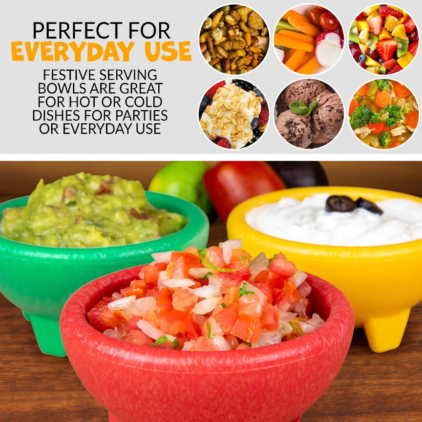 Taco Tuesday 3-Piece Salsa Bowl Set in Yellow, Green & Red