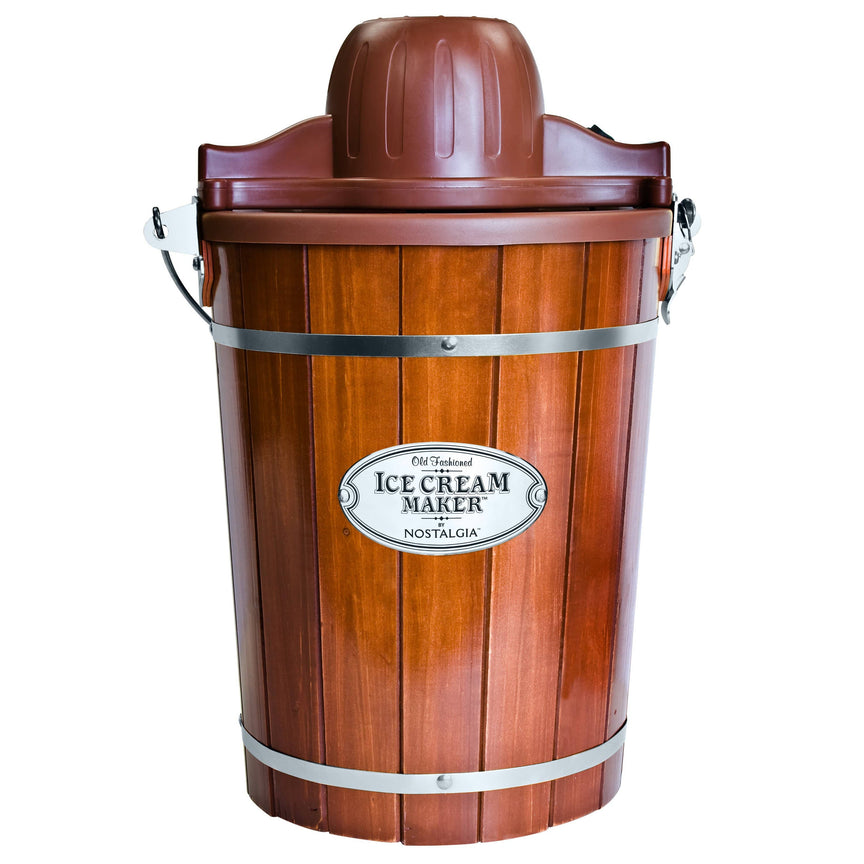 6-Quart Wood Bucket Ice Cream Maker