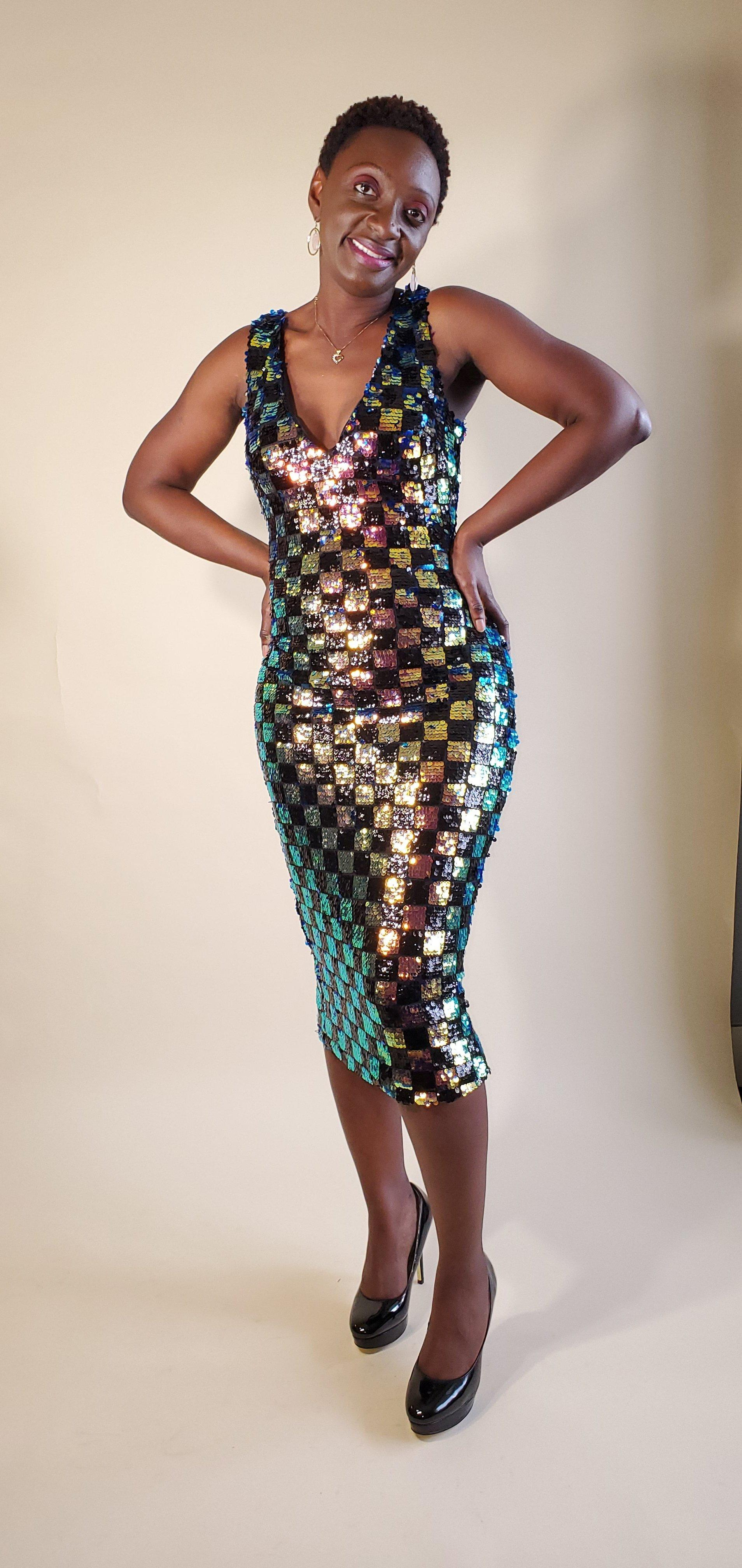 Checkmate | Sequin Midi Dress - Shop-twelve29