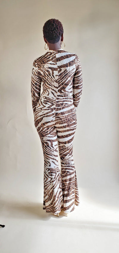 Kenya | Zebra Print Jumpsuit - Shop-twelve29
