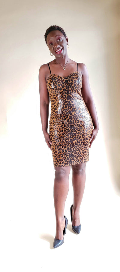 Oh So Sassy | Leopard Print Mini Dress - Shop-twelve29