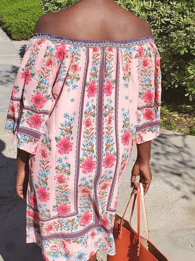Daisy | Off the Shoulder Floral Dress