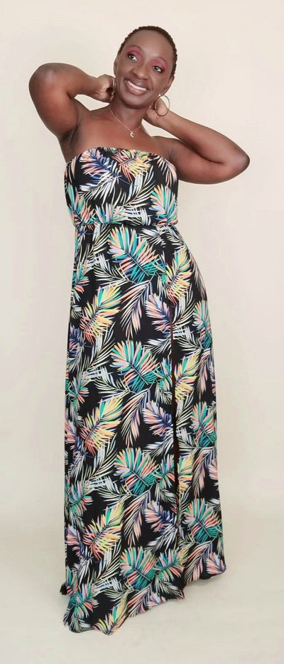 Diana | Printed Strapless Maxi Dress