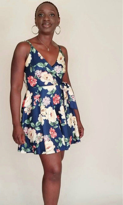 Lilly |Mini Floral Flare Dress