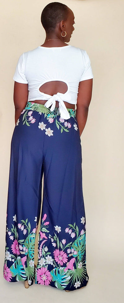 Havana | High waist floral print pants set